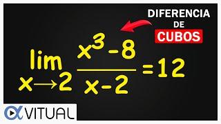 Límite indeterminado 0/0 por factorización ejemplo 8 | Cálculo diferencial - Vitual thumbnail