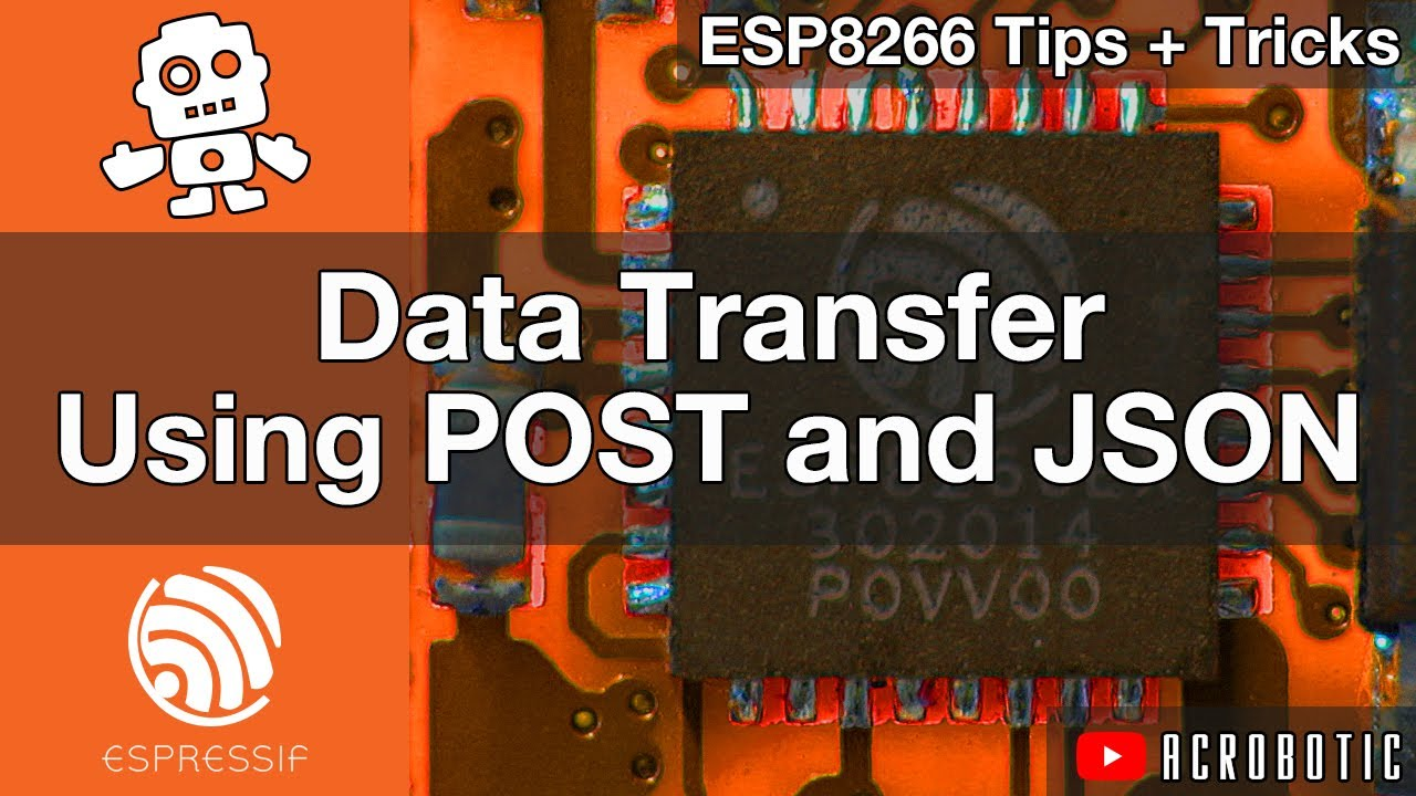 ESP8266 Web Server POST Requests With JSON Data In Arduino IDE (Mac OSX and  Windows)