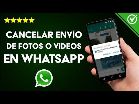 Cómo Cancelar el Envío de Fotos, Vídeos o Mensajes por WhatsApp