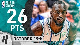 Kemba Walker Full Highlights Hornets vs Magic 2018.10.19 - 26 Points in 3 Qtrs!
