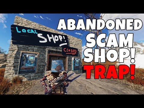 RUST | BAITING PEOPLE into an ABANDONED SCAM SHOP TRAP BASE! thumbnail