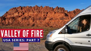 Valley of Fire EPIC Camping Spot | First VANLIFE Experience USA | Brits in America Part 7