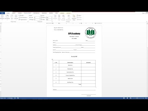 How To Make Receipt Bill IN MS Word thumbnail