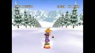 Final Fantasy VII - Snowboarding in Great Glacier WR