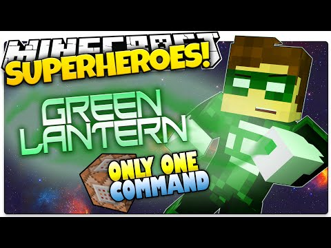 Minecraft   How To Be A Superhero!   GREEN LANTERN!   Only One Command (One Command Creation)