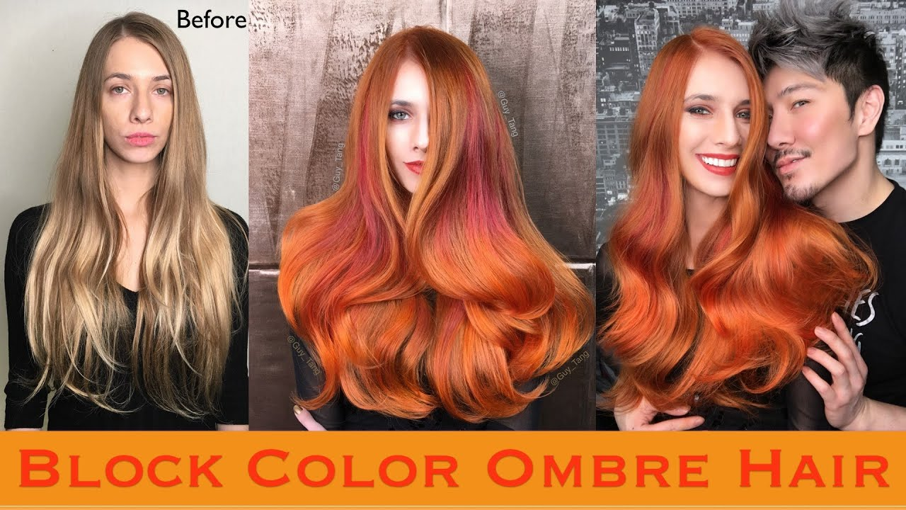 Block Color Ombre Hair Youtube
