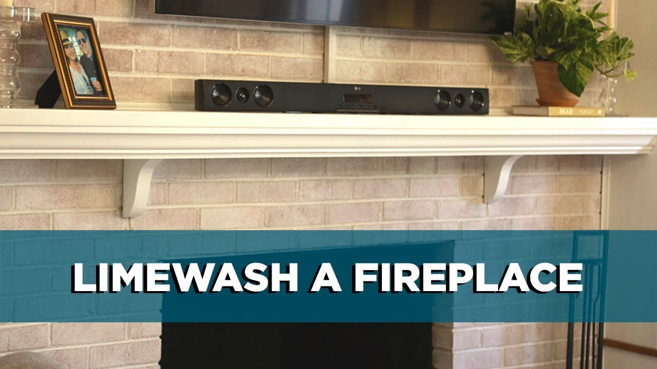Lime Wash Brick Fireplace Painting A Brick Fireplace Using Limewash