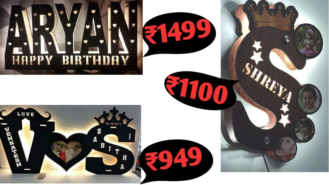 Alphabet LED Lamp Customized and Personalized with Any Alphabet.
