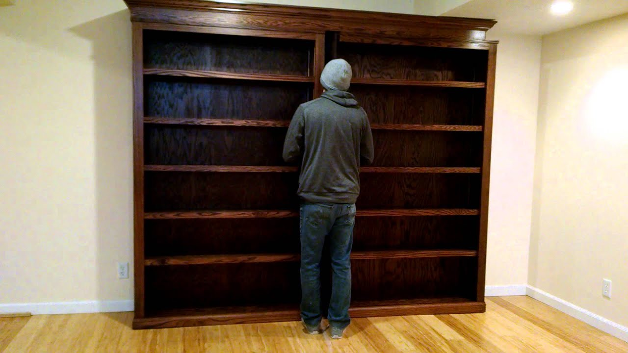 & Sliding bookcase/hidden door - YouTube