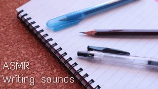 ASMR(無言)ボールペン/鉛筆/万年筆で書く音 Writing sounds of fountain pen/pencil/ballpoint pen