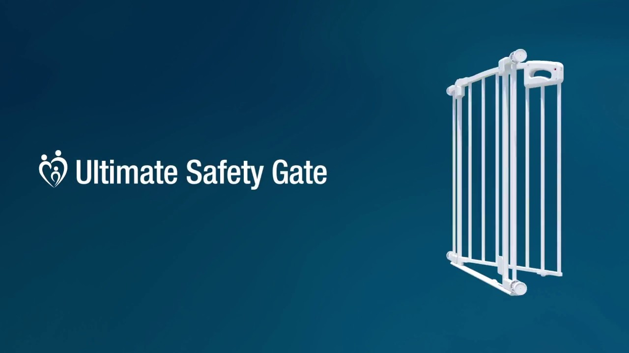 Perma Child Safety White Ultimate Safety Gate Youtube