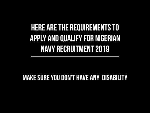 How To Apply For Nigerian Navy Recruitment