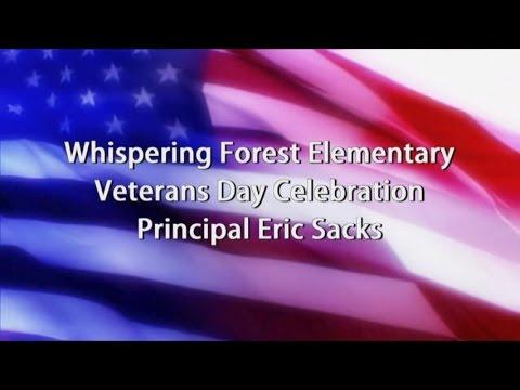 Whispering Forest Veterans Day Program