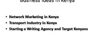 A List of Top 10 Small Business Ideas in Kenya