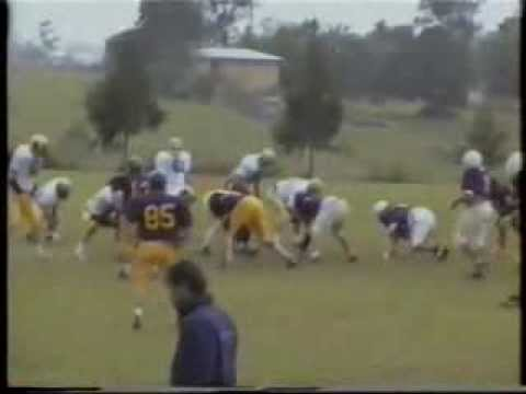Qld Gridiron Football League Cougars v Pirates pre season 1997