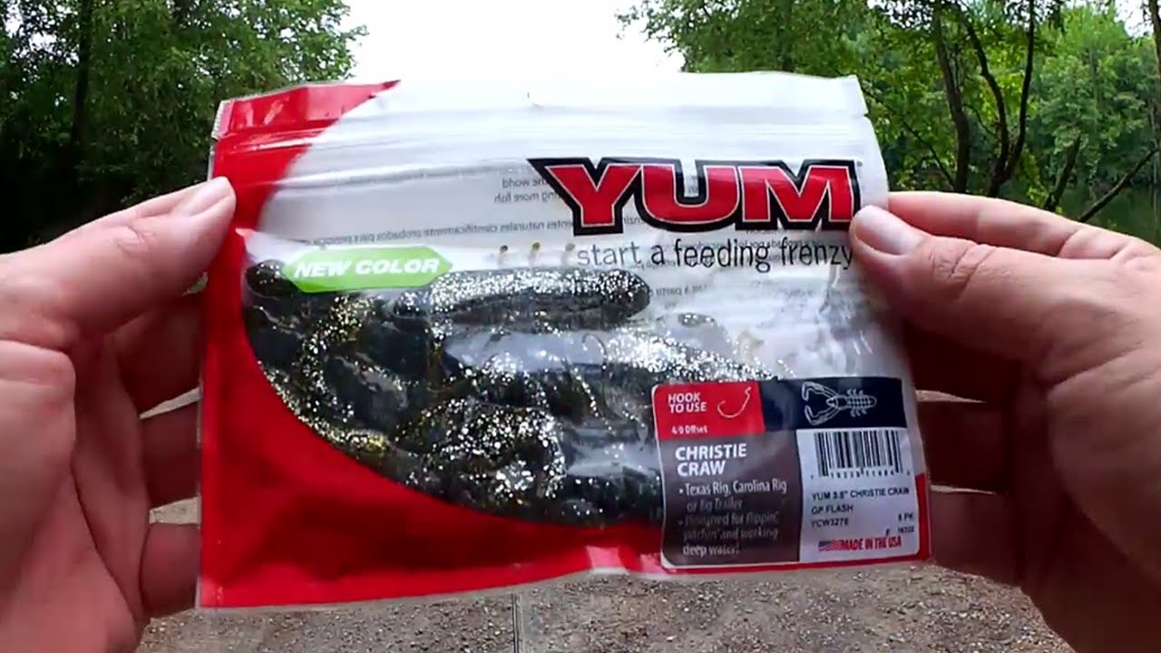 Bass Fishing with a YUM Christie Craw - Texas Rig Bass Fishing Lure