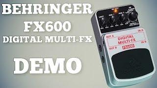 Behringer FX600 Digital Multi-FX Demo