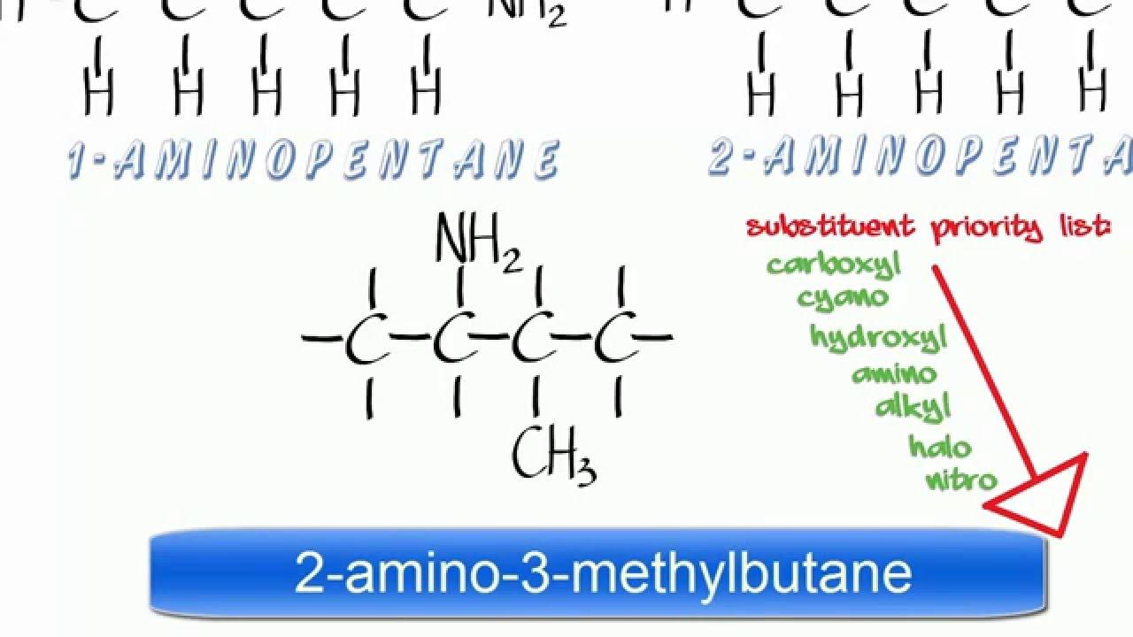Amines 1  Nomenclature of simple Primary Amines