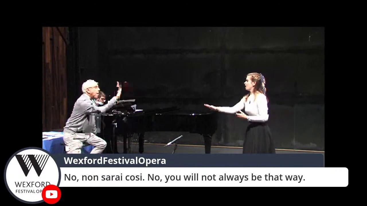 Maestro Ernesto Palacio Master Class, Wexford Festival Opera YAP