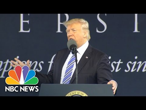 Thumbnail: President Donald Trump To Graduates: Nothing 'Is More Pathetic Than Being A Critic' | NBC News