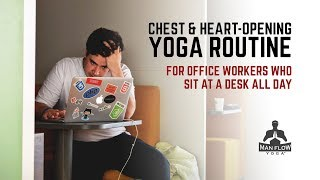 Office Yoga Routine for Workers Who Sit at a Desk All Day Long