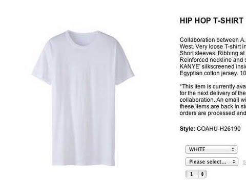 Kanye West Selling Plain T-Shirts For...$120?!