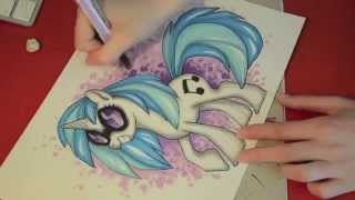 Speed drawing MLP- DJ Pon-3/Vinyl Scratch