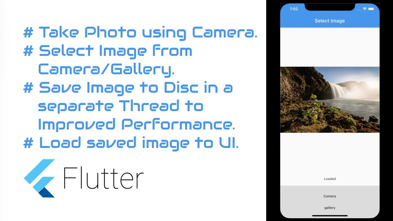 #Flutter Tutorial - Save Selected Image in App Directory in separate Thread