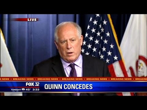 Gov. Pat Quinn concedes Illinois governorship to Bruce Rauner