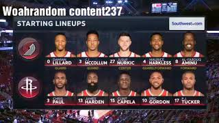 Houston Rockets VS. Portland Trail Blazers NBA highlights- December 11th 2018
