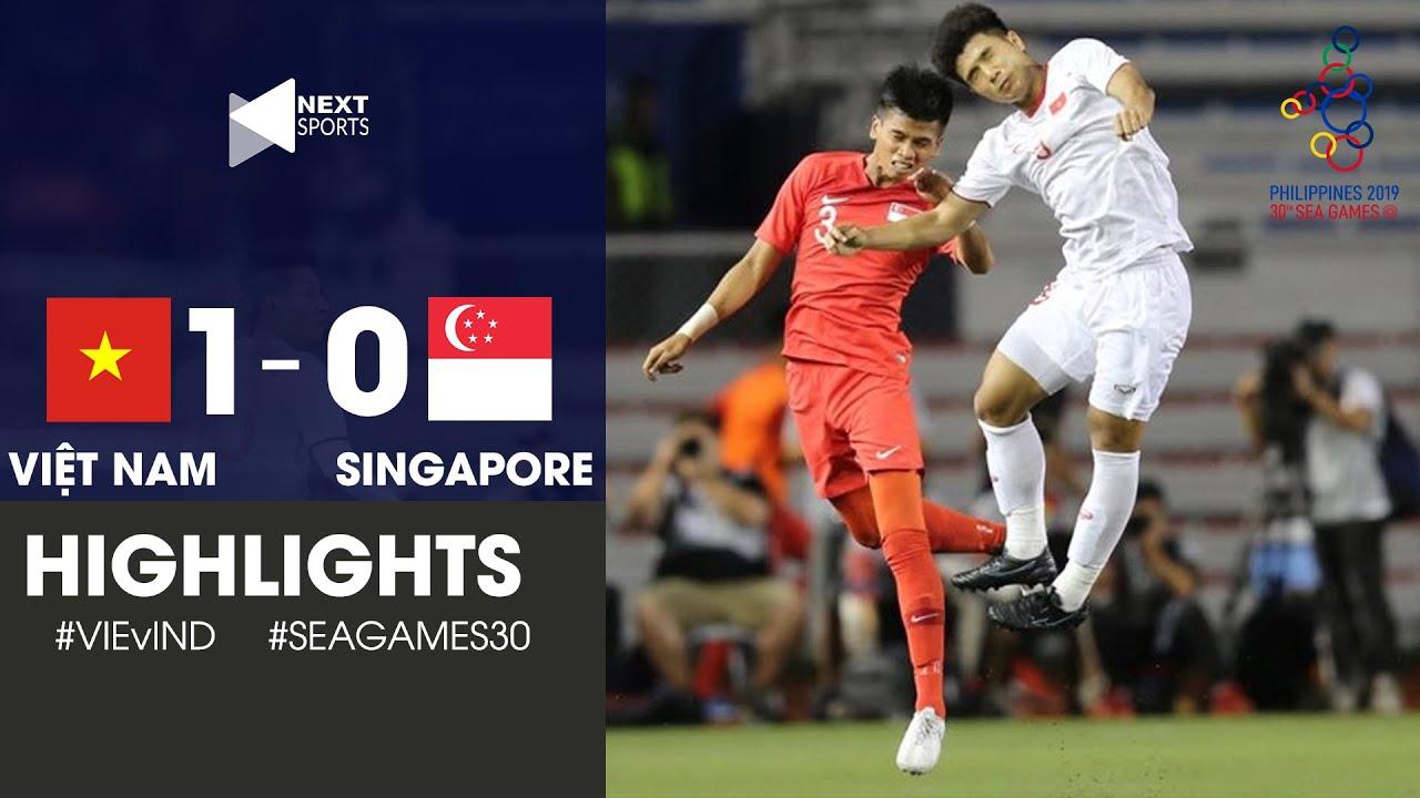 Highlights | U22 Việt Nam 1-0 U22 Singapore | Đức Chinh đánh đầu như CR7 nã toạc lưới Singapore