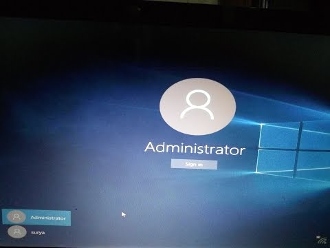 How to Windows 10/8.1/8  Administrator account  Enable or Disable