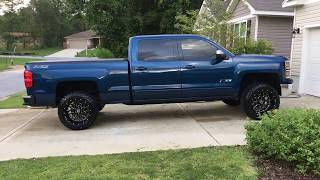 2015 Silverado With A 3 Inch Level And 20x12s