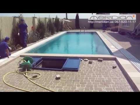 Делаем отдых у открытого бассейна идеальным в любую погоду - раздвижной павильон