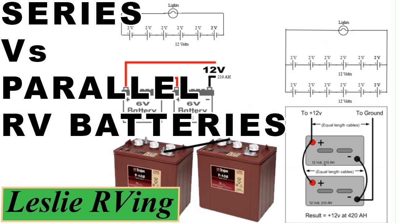 RV Batteries, Series vs Parallel. Why use 6 volt batteries ...
