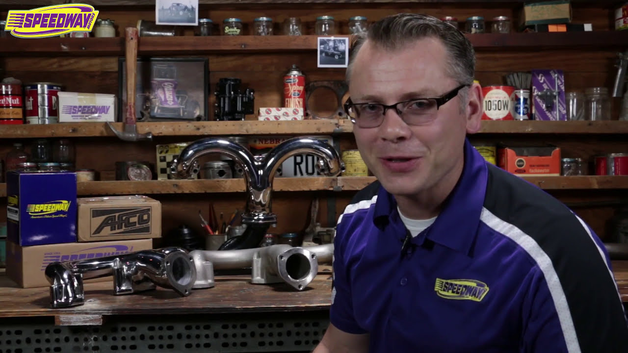 Speedway Tech Talk - Tru-Ram Exhaust Manifolds  Speedway Motors 03:23 HD
