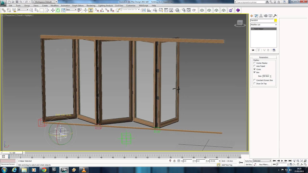 3ds Max Folding Door Rig Youtube