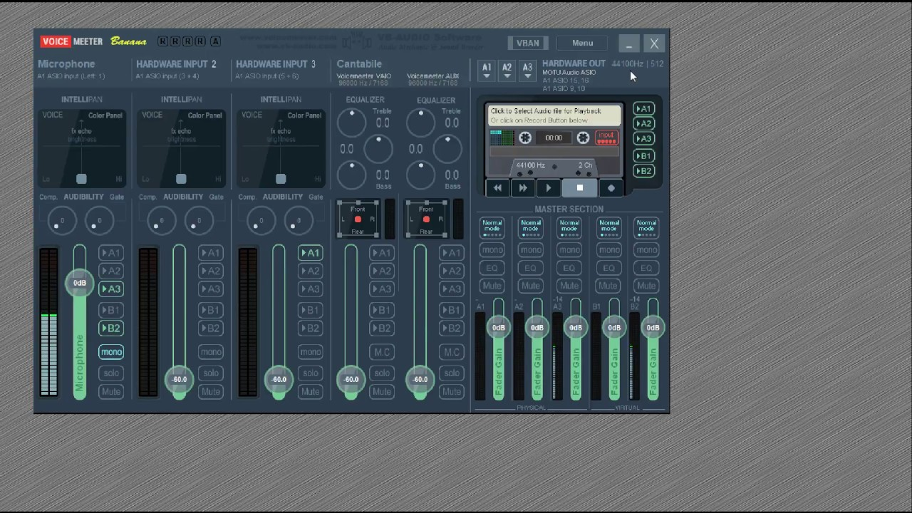 Voicemeeter Pro Inserts with Free Cantabile Lite as VST Effects Host  Tutorial