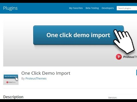 How to create Import Demo button for wordpress theme - YouTube