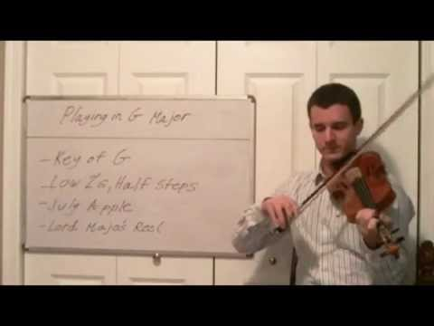 Playing in G Major - Learning to Play the Violin in different Musical Keys