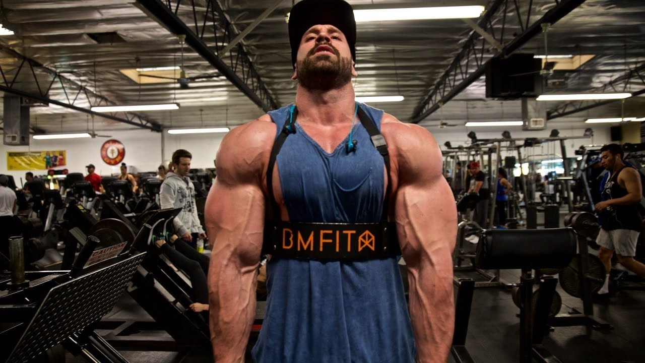 Big Bodybuilding Bradley Martyn Full Raw Back Workout 2017 -4584