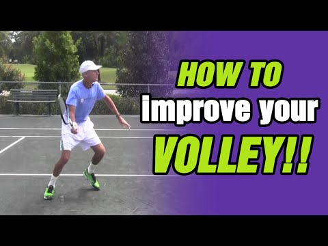 Tennis Lessons - How To Improve Your Volley - Tips And Drills