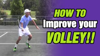 Tennis Lessons - How To Improve Your Volley with TomAveryTennis.com