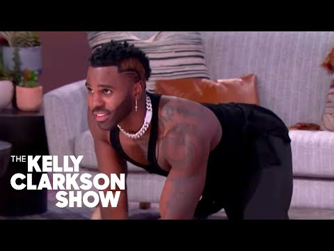 Jason Derulo Gives Cat Acting Lessons To Nicole Byer And Kelly Clarkson