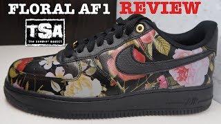 air force 1 low black floral