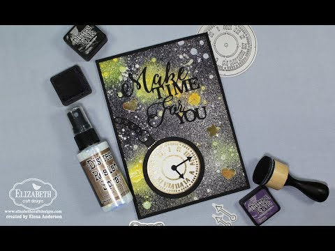 Galaxy Father's Day Card with Distress Resist and Elizabeth Craft Designs