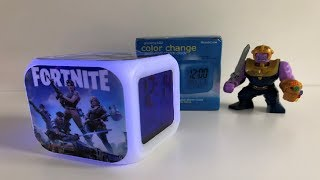 Fortnite Color Changing Night Light Alarm Clock Toy - Fortnite Battle Royale Build And Review