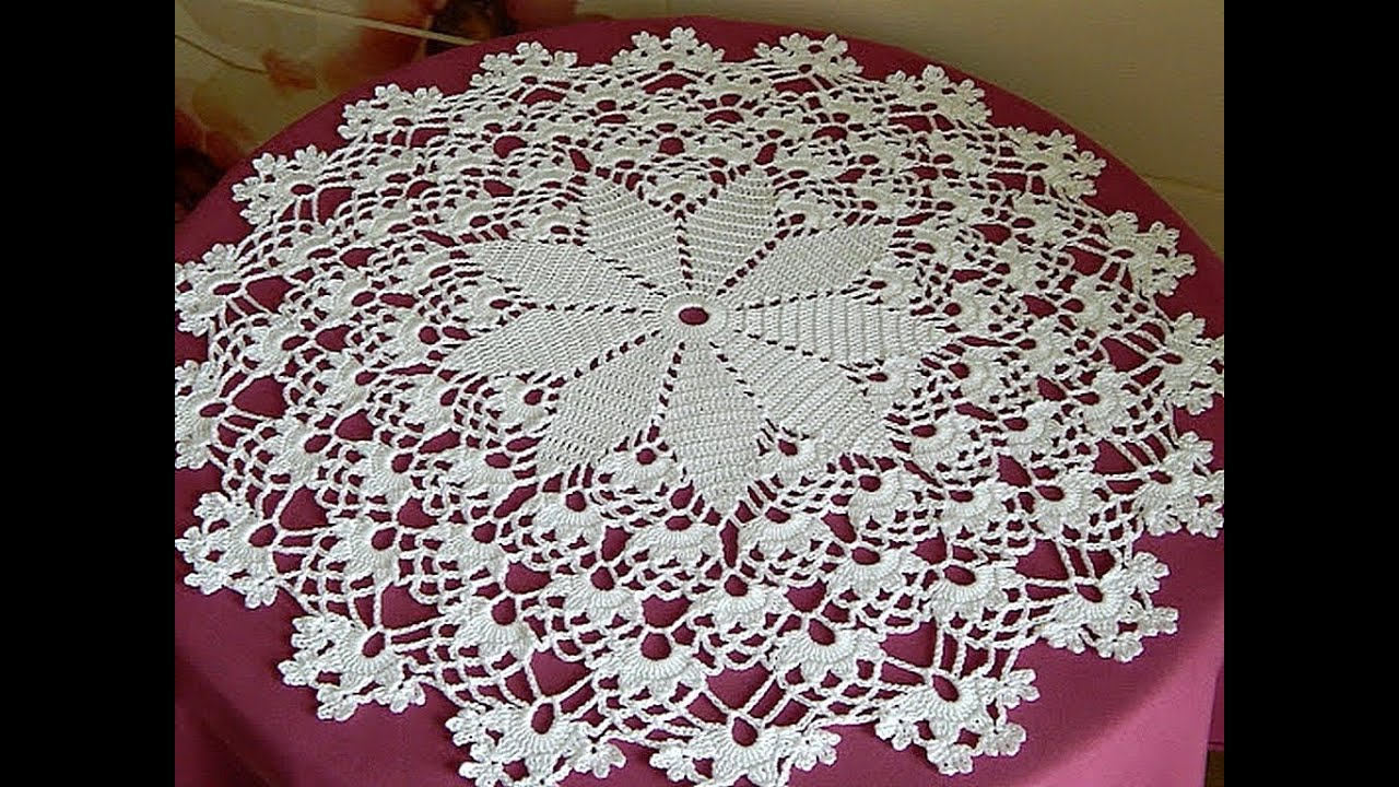 #Crochet Crochet Doily diagram My doily Lace napkins FREE crochet diagrams  YouTube