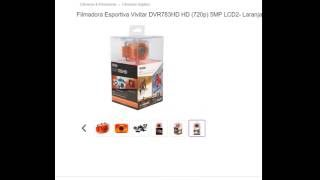 filmadora esportiva vivitar dvr783hd hd 720p 5mp lcd2 laranja