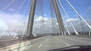 Driving Over The Cooper River Bridge - May 16, 2015